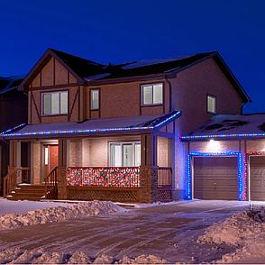 Уличная гирлянда дюралайт 20м. RGB трехжильный, круглый (Мультицвет), Гирлянда для украшения дома + адаптер, фото 2