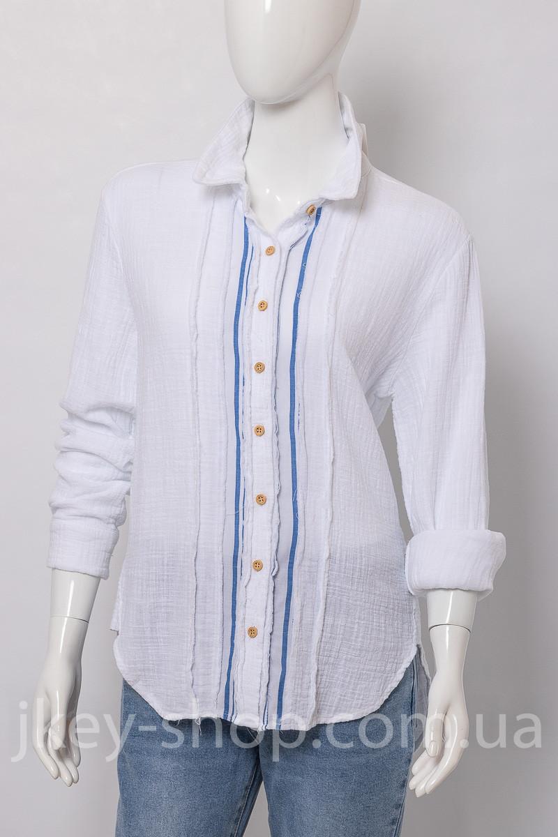 Блуза женская WIYA 10398 BIANCO (WHITE)
