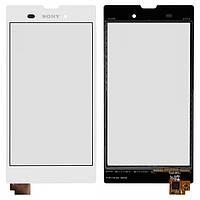 Touchscreen (сенсорный экран) для Sony Xperia T3 D5102/D5103/D5106, оригинал (белый)