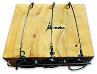 """Мышеловка """"Норка"""" на три отверстия, ловушка для мышей с тремя отверстиями деревянная механическая"""