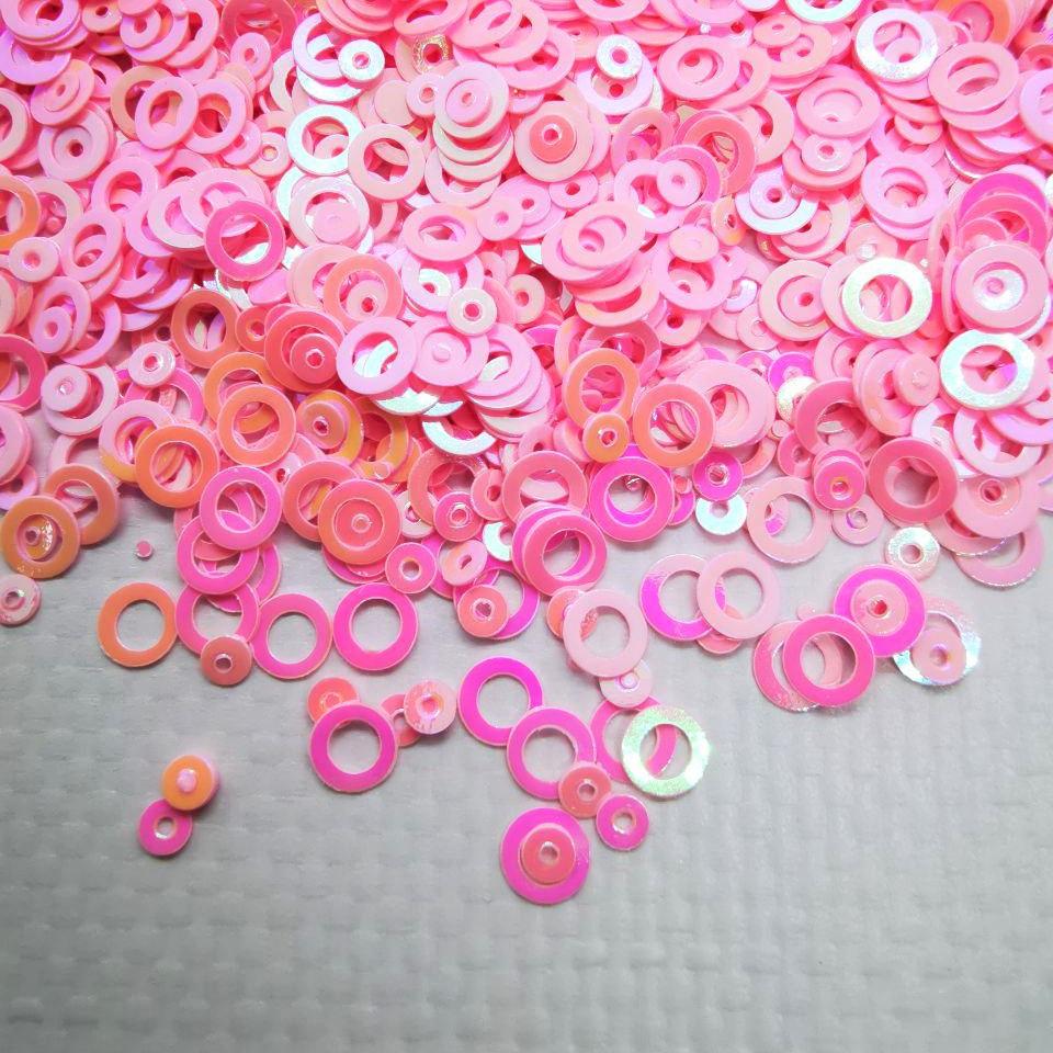 Глиттерные кружечки, рожеві від 5г