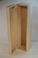 Деревянная заготовка. Футляр для бутылки. 36,5*9,5*8,5 см.