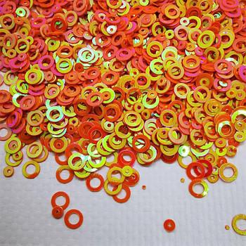 Глиттерные кружочки, оранжевые от 5г