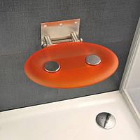 Відкидне сидіння RAVAK Ovo P прозоро-помаранчеве, фото 1