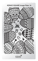 Мини пластина для стемпинга Konad Square Image Plate 16