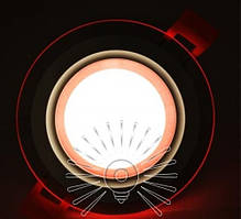 Встраиваемый LED Cветильник Сияние Lemanso LM1036 круг + стекло 6W 4500K + красный 450Lm