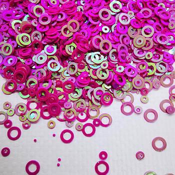 Глиттерные кружочки, фиолетовые от 5г