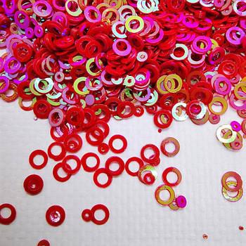 Глиттерные кружочки, красные от 5г