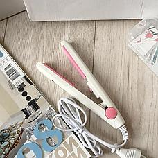 Утюжок дорожный мини плойка Gemei 2990 в пластиковой коробке, Компактный утюжок, Стайлер, фото 3