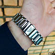 Часы мужские в стиле Armani. Мужские наручные часы серебристые. Часы с черным циферблатом Годинник чоловічий, фото 3