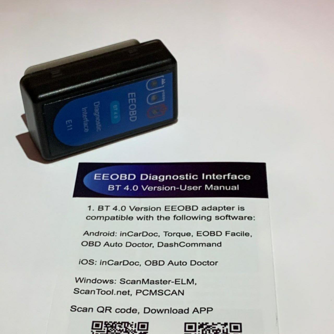 Диагностический сканер адаптер ELM327 Bluetooth