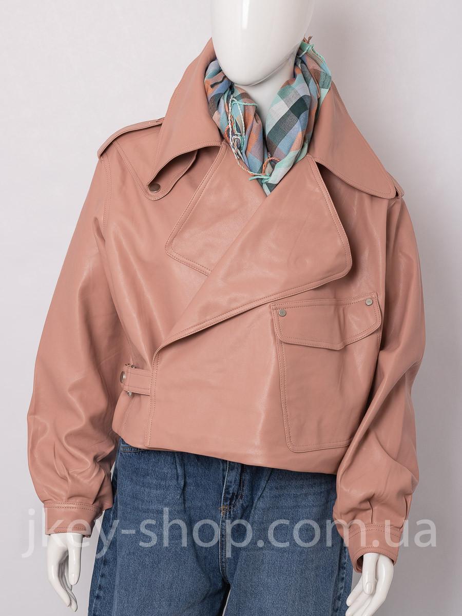 Куртка женская Y TWO MU9087 PEMBE косуха