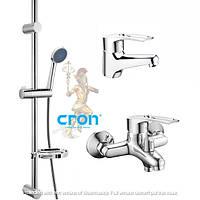 Набор смесителей для ванной комнаты в комплекте с душевой стойкой CRON HANSBERG.SET - 1