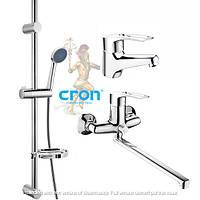 Набор смесителей для ванной комнаты в комплекте с дешевой стойкой CRON HANSBERG.SET - 3