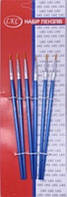 Кисточки для рисования, набор L923429 6шт нейлон уп24