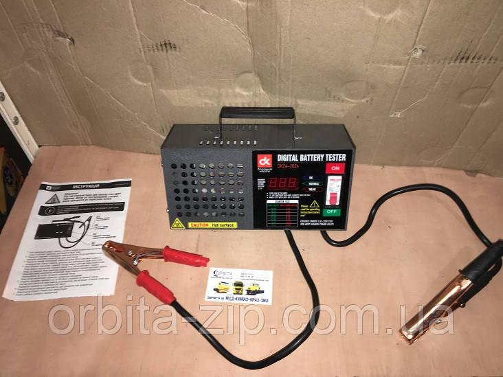 DK24-2024 Тестер аккумуляторной батареи 200Amp, цифровой (нагрузочная вилка)