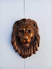 Голова льва на ворота 50*40 см материал POLYSTONE