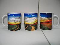 Чашка  с пейзажем Украины.