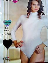 Женские боди с длинным рукавом с горлом черный