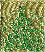 Этикетка с шелковой нитью изготовление