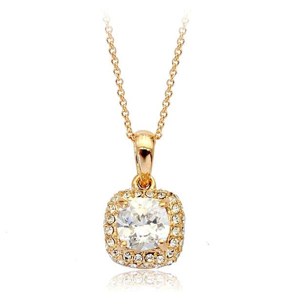 Кулон ювелірна біжутерія золото 18К декор кристали Swarovski