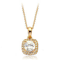 Кулон ювелирная бижутерия золото 18К декор кристаллы Swarovski