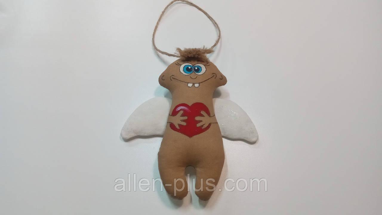 Кофейная игрушка ручной работы Ангелочек