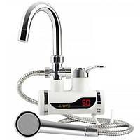 [ОРИГИНАЛ] Проточный водонагреватель Delimano с душем, боковое подключение, сзади (бойлер, горячая вода)