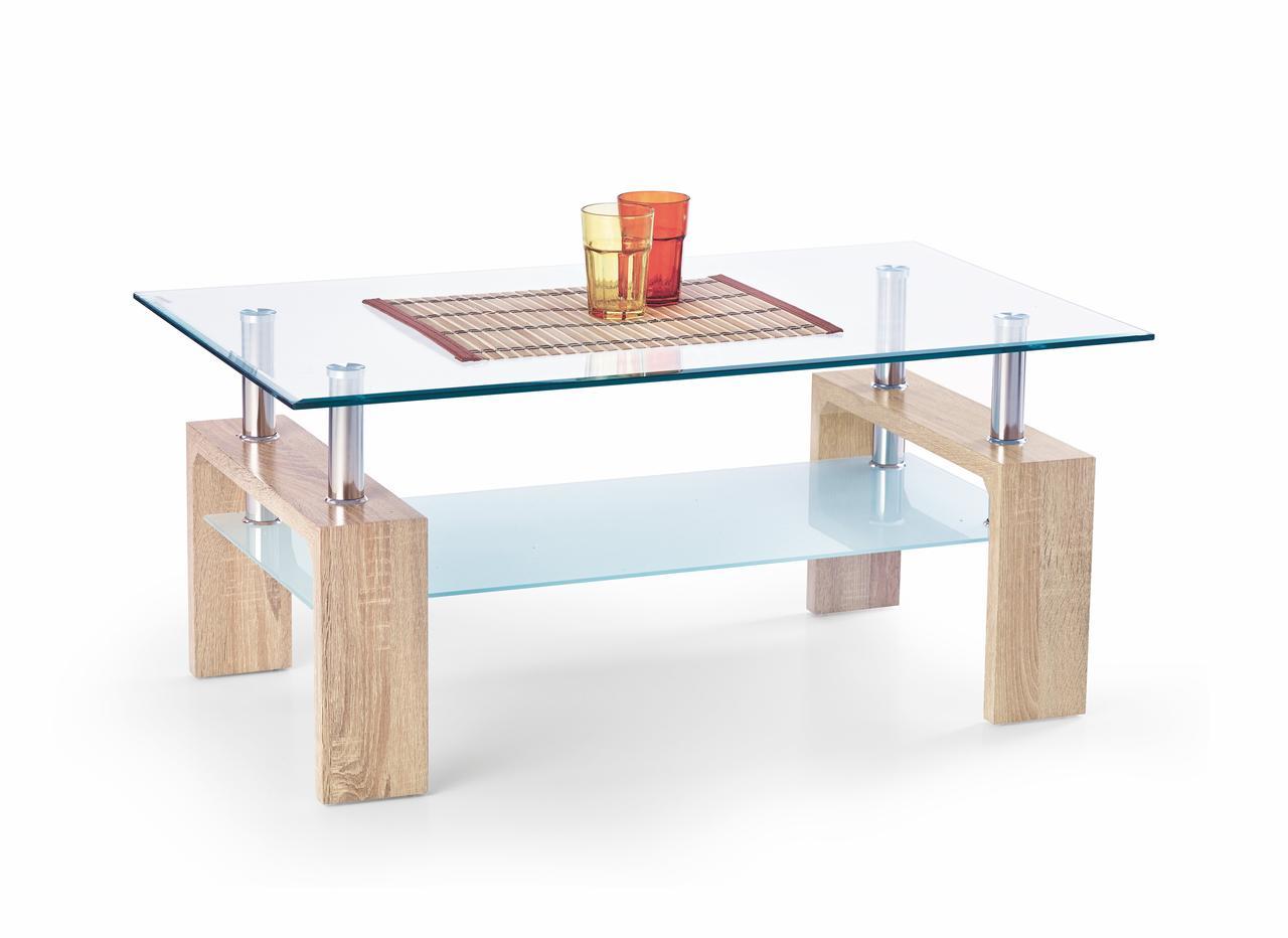 Журнальний стіл DIANA INTRO дуб сонома (100х60х45) Halmar
