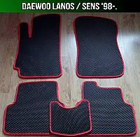 ЕВА коврики на Daewoo Lanos / Sens '98-. Ковры EVA Деу Ланос Сенс Део