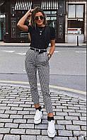 Женские стильные брюки в клетку
