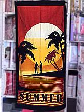 """Пляжное полотенце 75-150 см велюр-махра. Турция, """"Summer"""""""