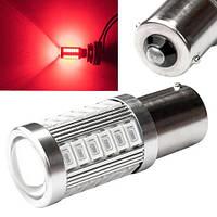 LED 1156 BA15S P21W лампа в автомобиль, 33 SMD, красная