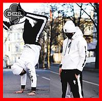 Мужской спортивный костюм Билли,трикотаж с флисом,цвет черно -белый