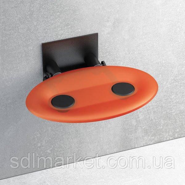Відкидне сидіння RAVAK Ovo-P прозоро-помаранчеве