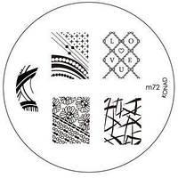 Диск для стемпинга Konad Image Plate M072, фото 1