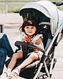 Легкая Прогулочная коляска CARRELLO Gloria +дождевик, фото 5