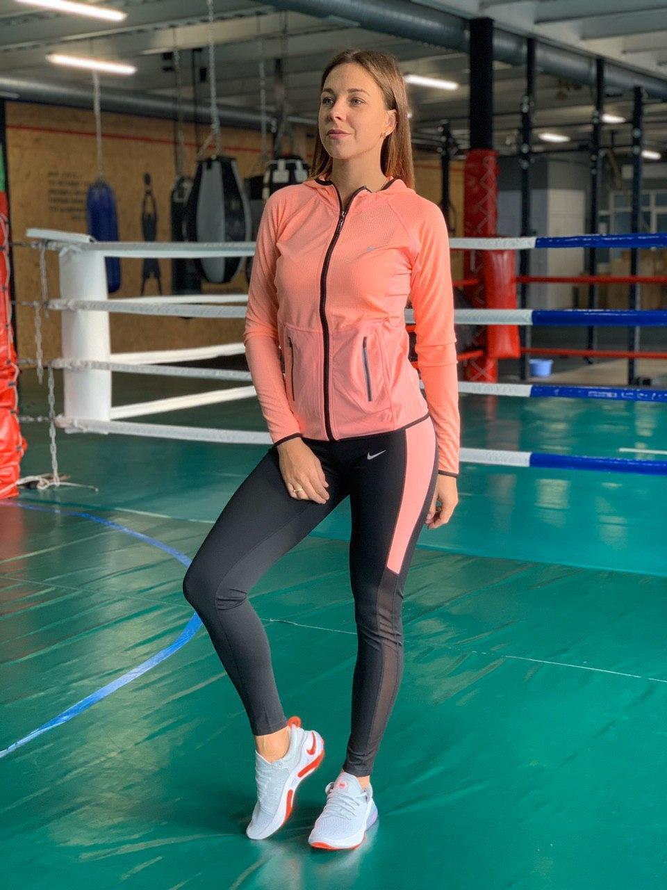 Комплект костюм спортивный комперссионный  женский  Nike Найк  ( S-M, L-XL )
