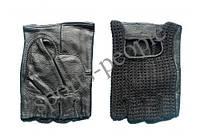 Перчатки б/п Вязка, кожзам+сетчат. материал, размеры: М, L, XL