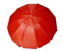 Зонт садовый 2.50 метра 12 спиц (Красный)