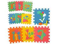 Детский развивающий коврик-пазл Мозаика Растения. M 0386