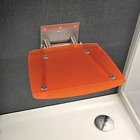 Відкидне сидіння RAVAK Ovo B прозоро-помаранчеве, фото 1