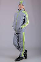 Детский спортивный костюм для девочки тёплый Training (светло-серый)