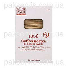 Зубочистки в инд. п/э упаковке 1000шт. 1/50