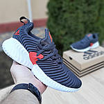 Чоловічі кросівки Adidas AlphaBounce Instinct (синьо-помаранчеві) 1948, фото 4