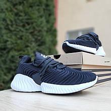 Женские кроссовки Adidas AlphaBounce Instinct (черно-белые) 2957