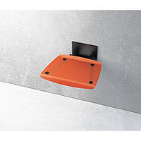 Відкидне сидіння RAVAK Ovo-B прозоро-помаранчеве, фото 1