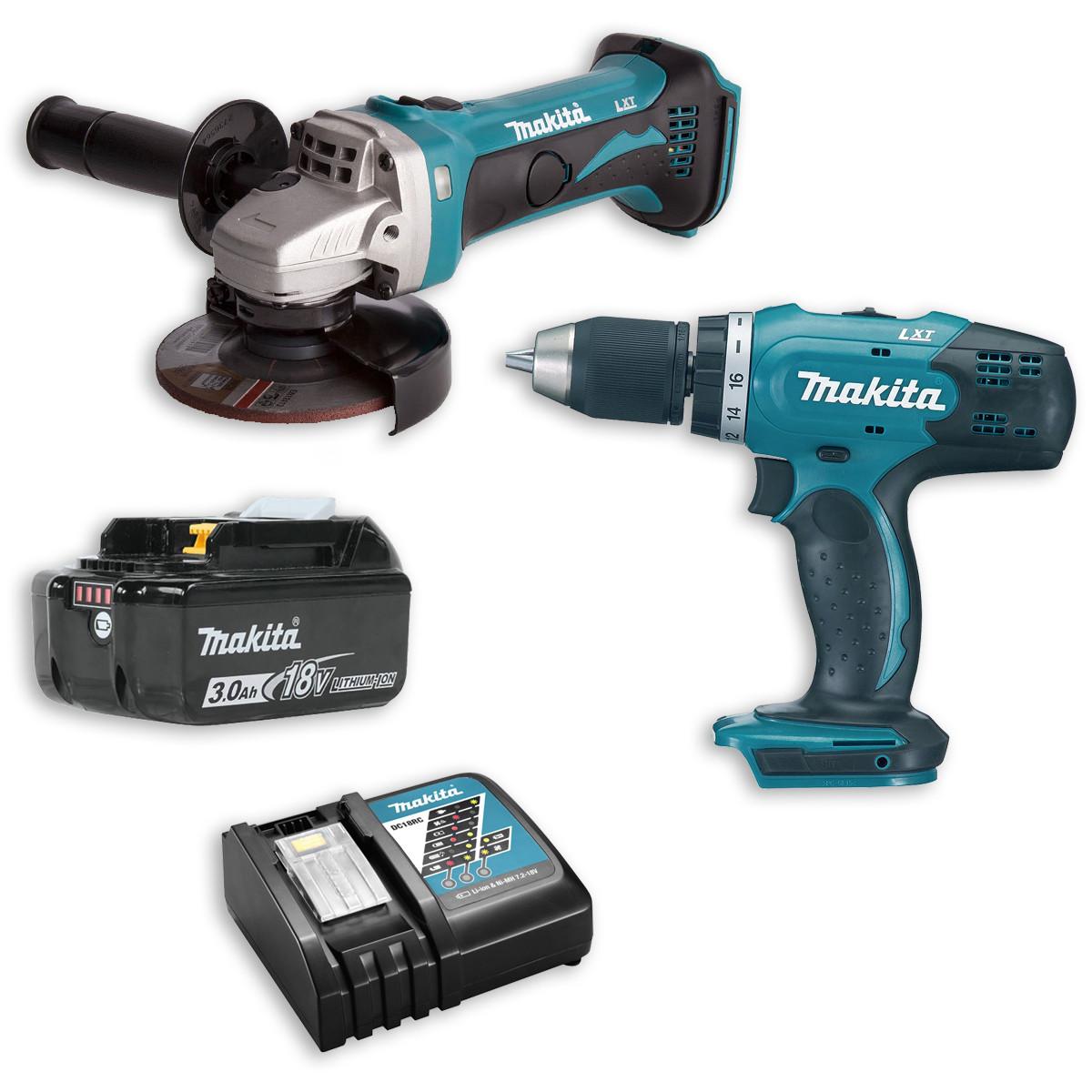 Набор инструментов Makita DDF453 и DGA452 + аккумулятор и зарядное устройство (DLXMUA453)