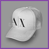 Кепка Тракер Armani Exchange 'Abstract Logo' | Белая, фото 1