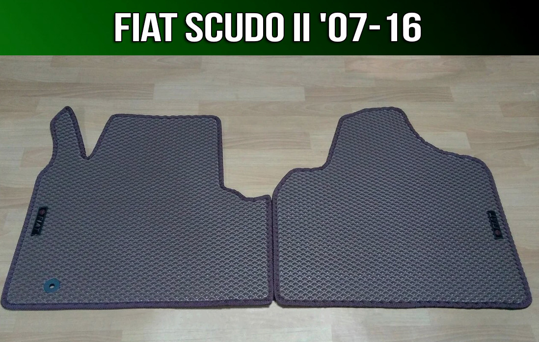 ЕВА коврики на Fiat Scudo II '07-16. Ковры EVA Фиат Скудо 2